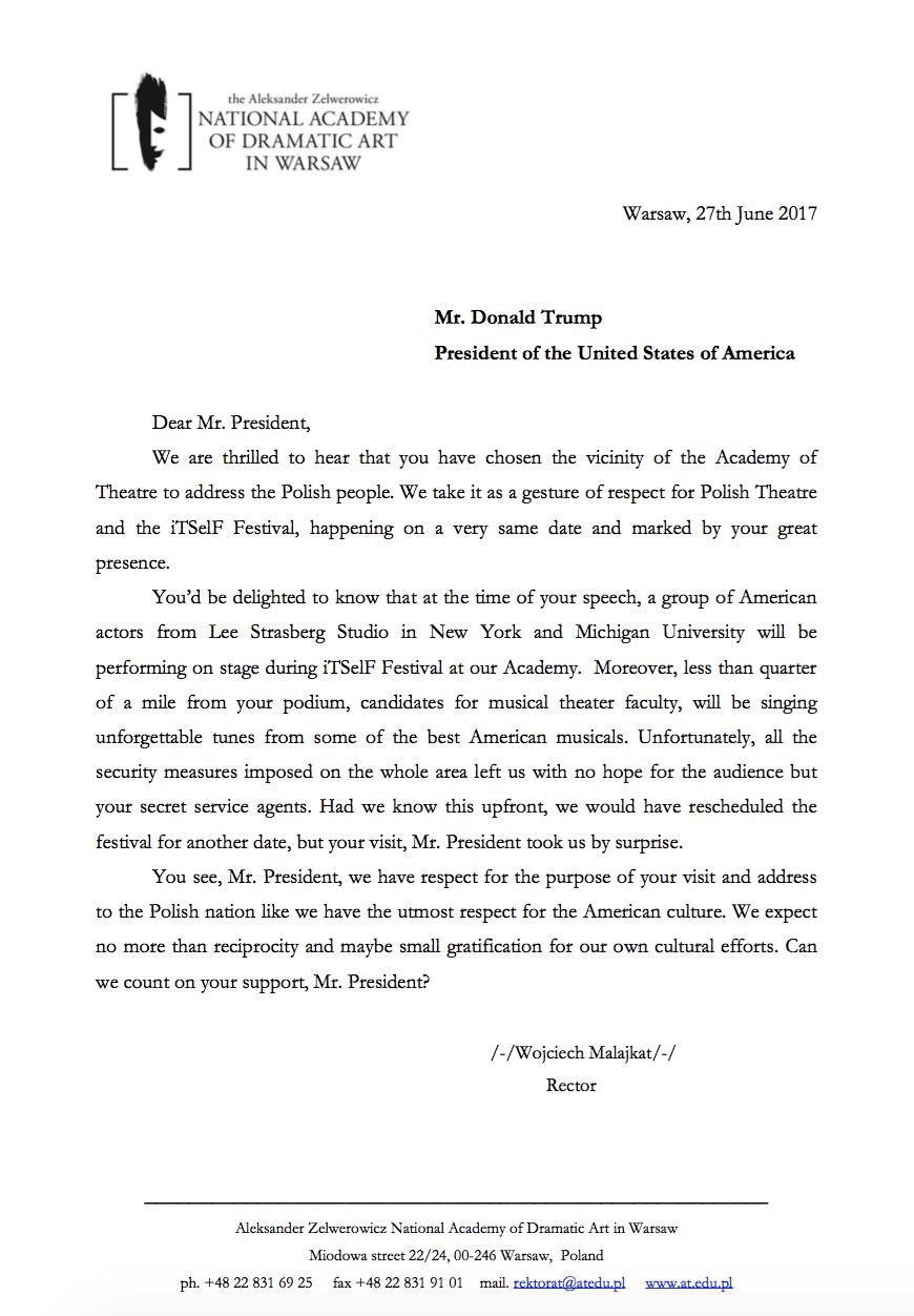 Szanowny Panie Prezydencie